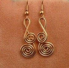 Wire Sculpture Earrings