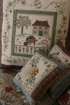 Lynette Anderson The Orange Tree cushion. Really like this one.
