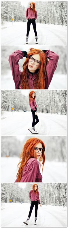 20+ Beautiful Snow Photo Shoot Ideas