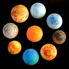 Our Solar System Bath Bomb Set turns your bath into a relaxing aromatic experience. Find handmade bath fizzes for you and your friends at the Apollo Box. Best Bath Bombs, Bath Boms, Bath Bomb Sets, Small Tub, Apollo Box, Our Solar System, Woman Painting, Kraut, Soap Making