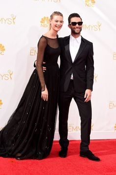 Behati Prinsloo and Adam Levine at the Emmys