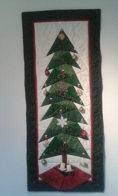20141223 Kerstboom / Christmastree. Paperpiecing.