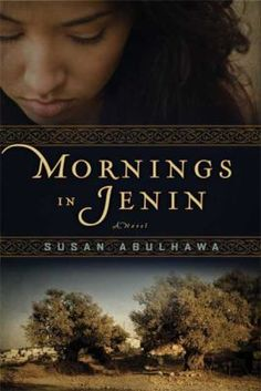 "Mornings in Jenin [book club in a bag]: a novel, by Susan Abulhawa. (Bloomsbury, 2010). ""Palestine, 1941. In the small village of Ein Hod a father leads a procession of his family and workers through the olive groves. As they move through the trees the green fruits drop onto the orchard floor; the ancient cycle of the seasons providing another bountiful harvest."""