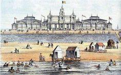 Ostenda 1860  Il Kursaal e le Bathing Machines