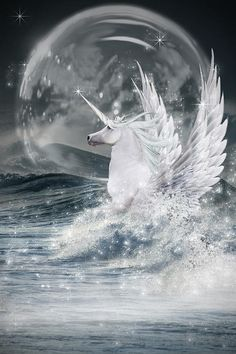 White Unicorn by Ethiriel Photography - White Unicorn Photograph - White Unicorn Fine Art Prints and Posters for Sale