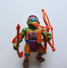 Vintage Teenage Mutant Ninja Turtles Leonardo Chief Leo Action Figure 1993 by WylieOwlVintage on Etsy #vintage #toy #etsy #tmnt #turtle #collectible