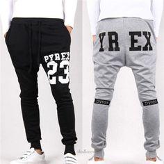 Mens Stylish Casual Skinny Harem hip hop Spor drop crotch pants men sweatpants