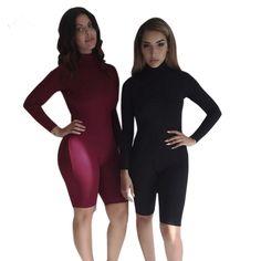 Women Casual Elegant Bandage Jumpsuit Long Sleeve Sexy Romper Short Pants Jumpsuit Skinny Bodysuit Female Evening Party Overalls