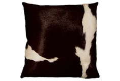 Torino 16x16 Hide Pillow, Chocolate/Wine on OneKingsLane.com