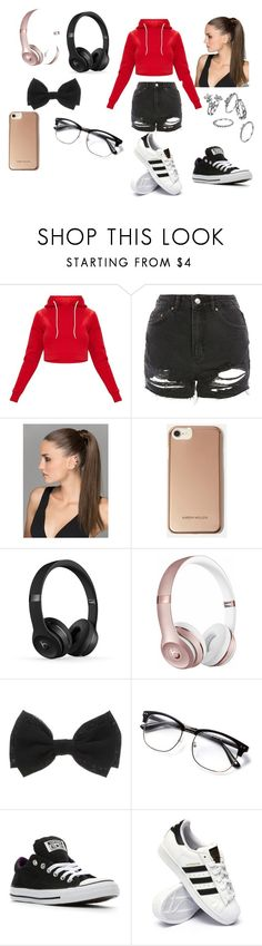 """Cute but cozy"" by jada-gymnast-639 ❤ liked on Polyvore featuring beauty, Topshop, Karen Millen, Beats by Dr. Dre, Converse and adidas"
