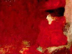 Gustav Klimt - Dame im Fauteuil (Lady in an Armchair), 1897.