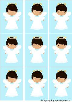 Etiquetas de comunion para niños