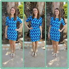 "Wearing a larger size LuLaRoe Julia dress (belted or tied from the inside with a hair tie) Search ""LuLaRoe with Keli Gilson"" on Facebook to find your unicorn Julia!"