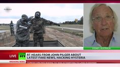 """Pilger: Ultimate ambition of hawks in Washington was regime change in Russia & More (I think he misunderstood the Trump/CNN question. The interviewer called CNN a respectable news source. Trump called them """"Fake New"""" lol."""