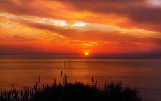 Fototapeta zachodzące słońce nad morzem FP 1561 - Deco Strefa