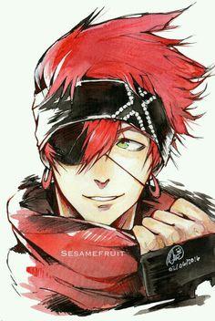 Male Human Rogue Eyepatch Headband Red Hair Elric Ember