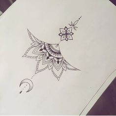 tattoo no meio peito - Tattoos - Tatouage Sternum Tattoo Design, Mandala Sternum Tattoo, Lotusblume Tattoo, Tattoo Designs, Underboob Tattoo, Women Sternum Tattoo, Unique Tattoos, Cute Tattoos, Beautiful Tattoos