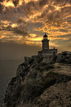 Melagavi Lighthouse, Corinthia, Greece- by DA.S.