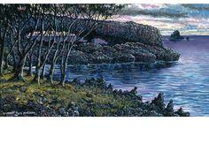 Robert Lyn Nelson b.1955  American HANA ARCH Acrylic  @robertlynnelson.com  #painting #nature #hawaii #robertlynnelson #maui #landscapes #realism
