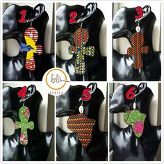 /Ankara Ankh Earrings / African Print Earrings /Handmade Earrings / African earrings on Etsy Print Fabrics, Prints, African Earrings, Big Earrings, Enabling, Beautiful Earrings, Earrings Handmade, Printing On Fabric, Fashion Accessories