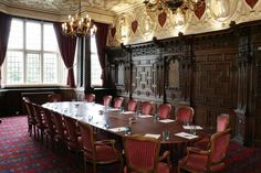Crewe hall. Carved parlour.