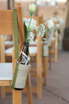Set of 16 Hanging Brown Glass Bottles/ Bud Vases by antipasto, $130.00