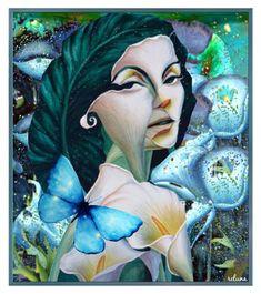 Portrait Art, Polyvore, Painting, Floral Watercolor, Women, Painting Art, Paintings, Painted Canvas, Drawings