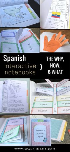 Spanish Interactive Notebooks: find ideas and resources to get started! Also, see pictures and videos of how I use them in my Spanish 1 classroom.