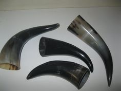 4 Cow horns...A4A63....Natural colored, polished  cow horns.........
