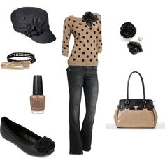 Casual black & tan by julifl on Polyvore