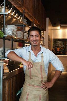 Takashi Inoue - Hot Men Photos: The 25 Hottest Chefs in America - Shape Magazine Woods Restaurant, Restaurant Owner, Business Man Photography, New York Bucket List, Restaurant Uniforms, Japanese Chef, Food Spot, Teppanyaki, Angus Beef