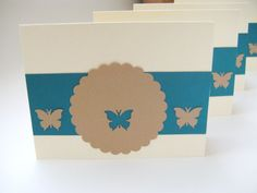 Blank All Occasion Butterfly Note Card Set of 4 by CreativeDesigns, $12.00
