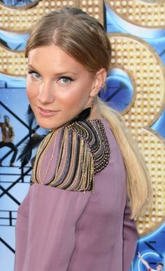 Heather Morris sleek ponytail