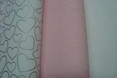 meisjes roze wit of zilver hartjes behang xx9