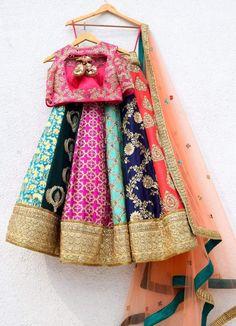 Multi Colour Embroidered Anisha Shetty Lehenga - - Multi Colour Embroidered Anisha Shetty Lehenga – Source by - Designer Bridal Lehenga, Indian Bridal Lehenga, Indian Bridal Outfits, Indian Bridal Wear, Indian Wear, Indian Gowns Dresses, Indian Fashion Dresses, Dress Indian Style, Indian Designer Outfits
