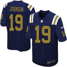 Nike Limited Keyshawn Johnson Navy Blue Youth Jersey - New York Jets #19 NFL Alternate