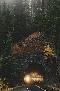 Dark Tunnel, Mt. Rainer, Washington