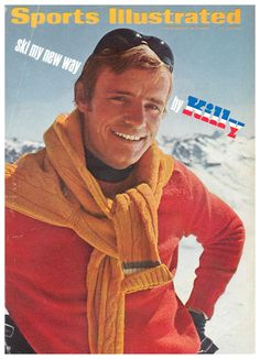 Today in 1967 - The World Cup skiing title was earned by Jean-Claude Killy of France. He had become quite a popular cult icon across the globe with his striking good looks. Ski Vintage, Vintage Travel Posters, Si Cover, Swiss Ski, Birmingham News, The Sporting Life, Ski Racing, Old And Teen, Free To Use Images