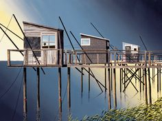 michael kidd - three fishing shacks