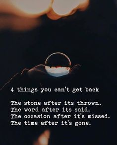 4 things you cant get back.