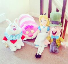 Alice in Wonderland stuffed animals