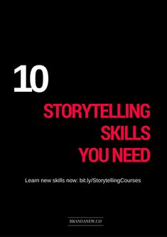 #Storytelling #skills don't necessarily need to be things you're born with. You can acquire and hone them to create amazing brand stories!