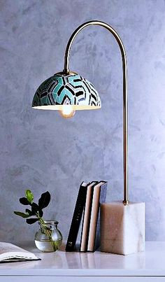 Table lamp is a small lamp designed to stand on a table. Adding elegance to your home decor could easily be achieved with the smallest thing such as adding a table lamp. Vendor Table, Coffee Desk, A Table, Table Lamps, Home Furnishings, Touch Lamp, Two By Two, Household, Purple Table