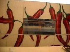 Visita Cinex 3 Cozinha com imagem plotada