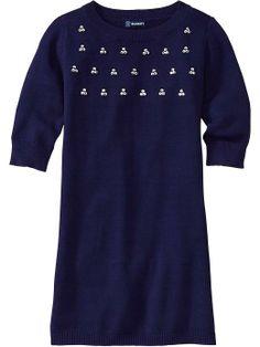 Old Navy | Girls Rhinestone-Embellished Sweater Dresses