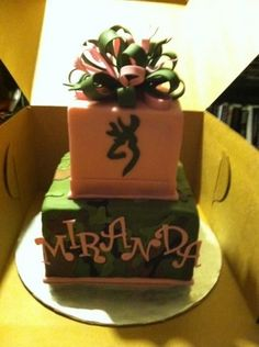 Image detail for -Camo Birthday cake! by JPMitchell on Cake Central Redneck Birthday, Hunting Birthday Cakes, Country Birthday Party, Camo Birthday Party, Birthday Cake Girls, Birthday Ideas, Hunting Cakes, Camo Party, 16th Birthday