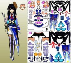 Airi Paper Doll In Anime Style - by S.V. - via Pepakura Gallery