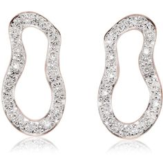 Monica Vinader Riva Pod Stud Earrings (1.115 BRL) ❤ liked on Polyvore featuring jewelry, earrings, pave diamond stud earrings, sparkle jewelry, monica vinader, sterling silver earrings and monica vinader earrings