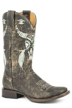 Women's Roper Aztek Steer Boots Handcrafted – yeehawcowboy - womens cowboy boots Cute Cowgirl Boots, Red Cowboy Boots, Womens Cowgirl Boots, Western Boots, Western Wear, Buy Boots, Shoe Boots, Rain Boots, Wedding Shoes