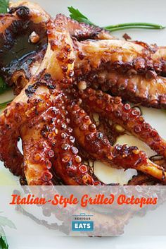 Once you have your cooked, tender octopus, you need to let it rest and come to room temperature, and you can even refrigerate it for up to 24 hours before grilling as well.